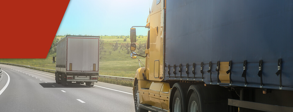 truck driving on highway after getting a cdl in louisiana